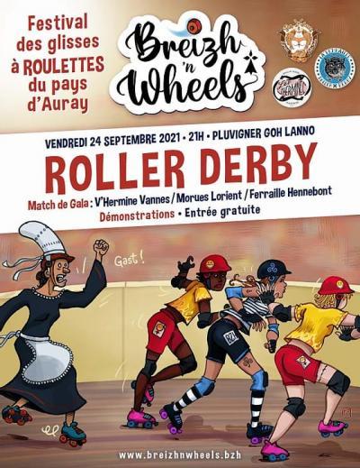 Match Roller Derby à Pluvigner le 24 septembre  - Festival Breizh n' Wheels