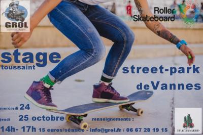 Stages skateboard 31/10 et 2/11