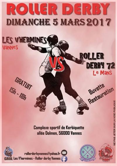 Evenement à venir: match des V'hermines dimanche 5 mars!